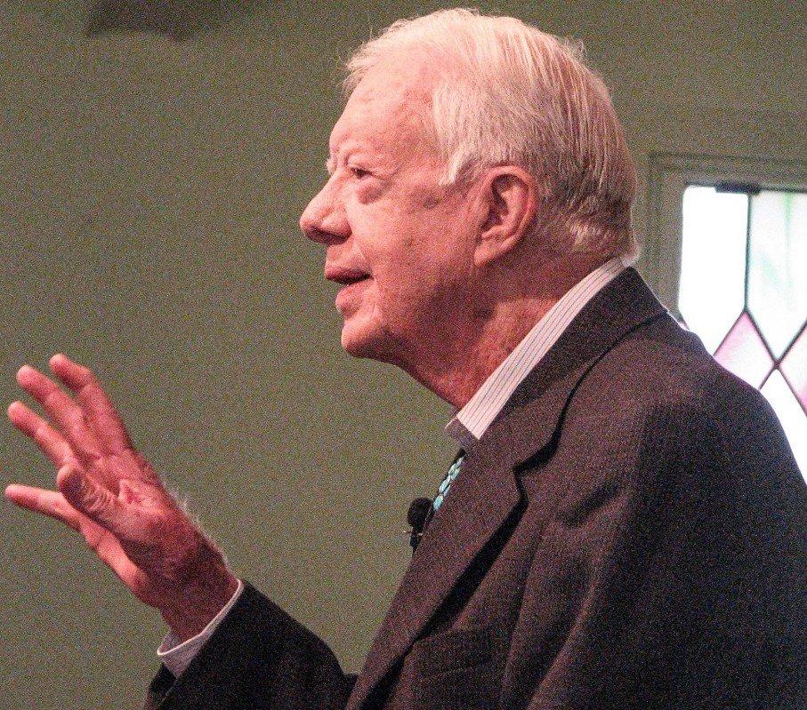 Jimmy Carter teaches Sunday School at Maranatha Baptist Church.