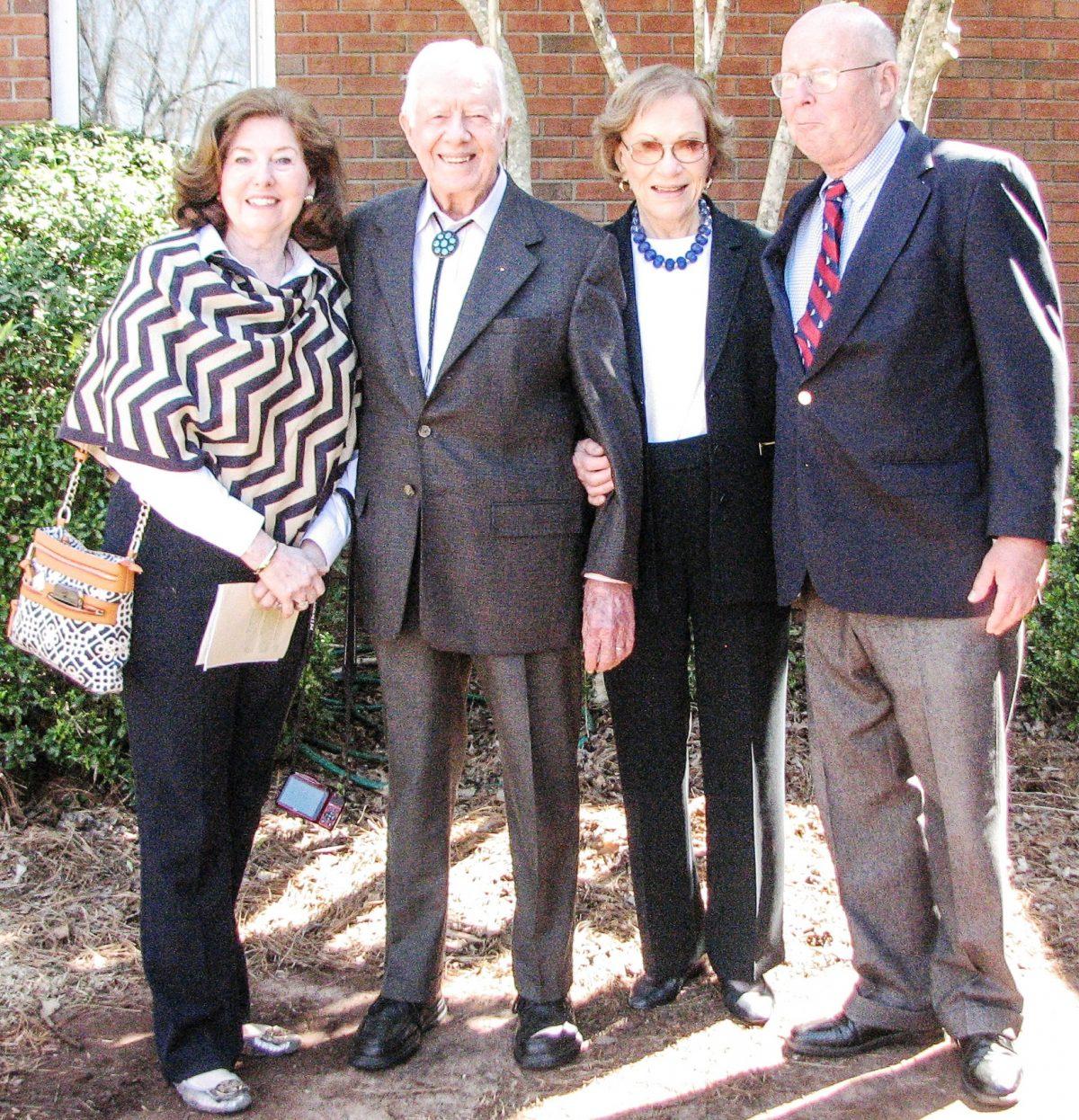 L to R: Becky Turberville, Jimmy Carter, Roselynn Carter, Gene Gibbons