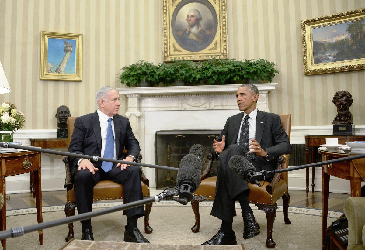 U.S. President Barack Obama meets Israeli Prime Minister Benjamin Netanyahu in the White House in Washington on Oct. 1, 2014. (AP Photo/Pablo Martinez Monsivais, File)