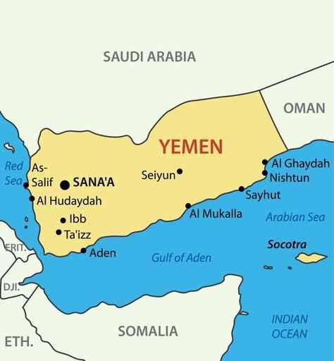 Republic of Yemen - vector map