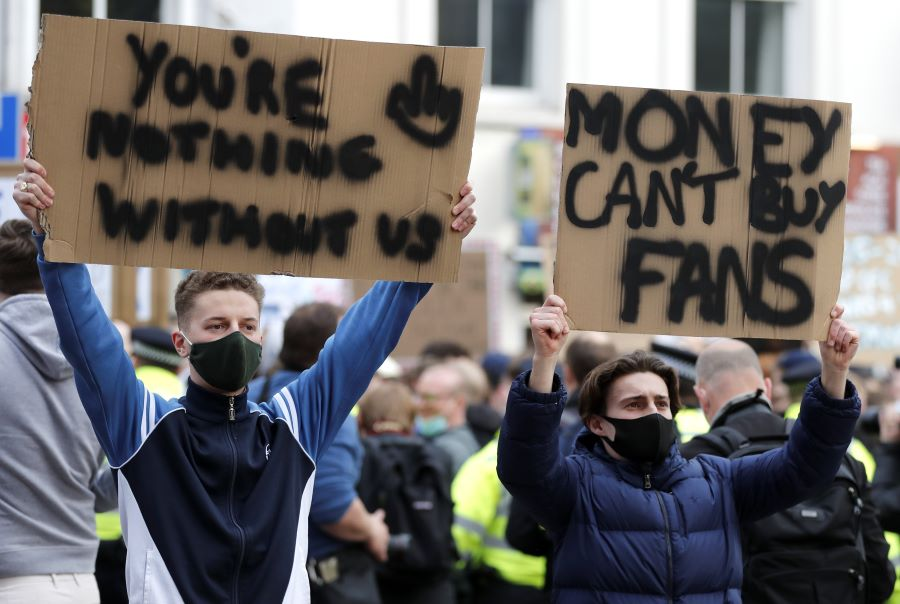 Greed no match for fans' fury as football Super League fails