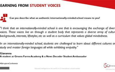 Top educators hear News Decoder students at global meeting