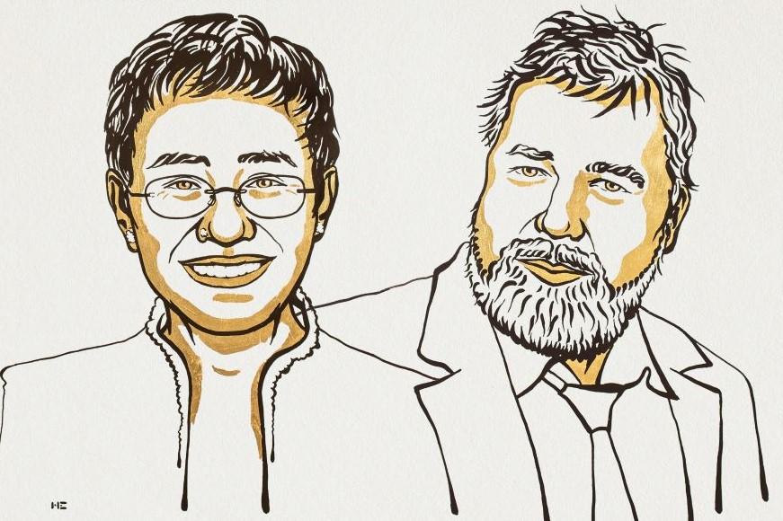 Nobel Prize underscores risks to journalists and democracy